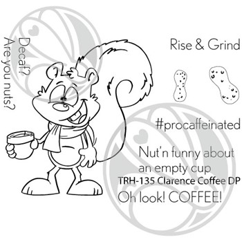 The Rabbit Hole Designs CLARENCE COFFEE Clear Stamps TRH-135