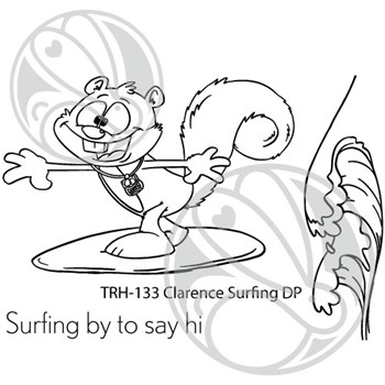 The Rabbit Hole Designs CLARENCE SURFING Clear Stamps TRH-133