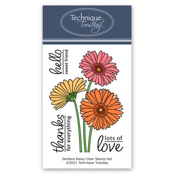 Technique Tuesday GERBERA DAISY Clear Stamp Set gsgrb