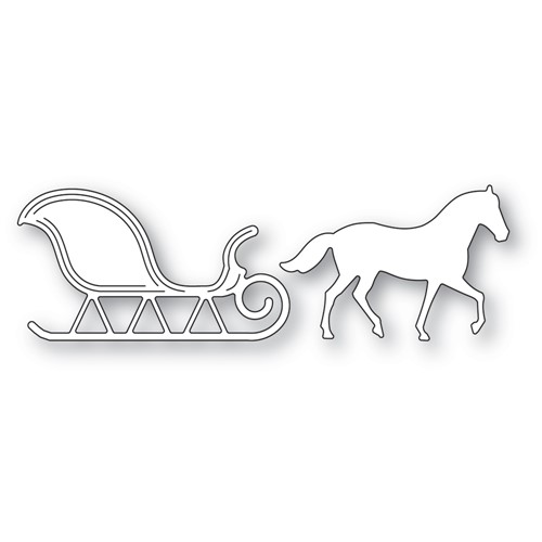 Memory Box HORSE AND SLEIGH Dies 94596 Preview Image