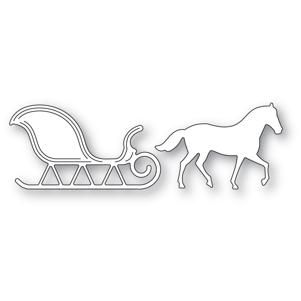 Memory Box HORSE AND SLEIGH Dies 94596 zoom image