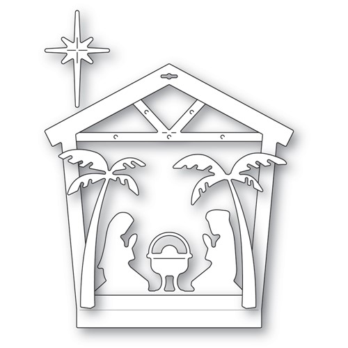 Memory Box NATIVITY HOUSE FRAME Dies 94602 Preview Image