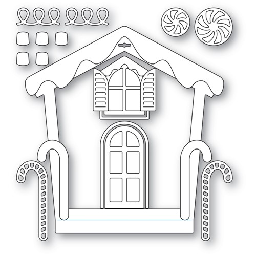 Memory Box GINGERBREAD HOUSE FRAME Dies 94603 Preview Image