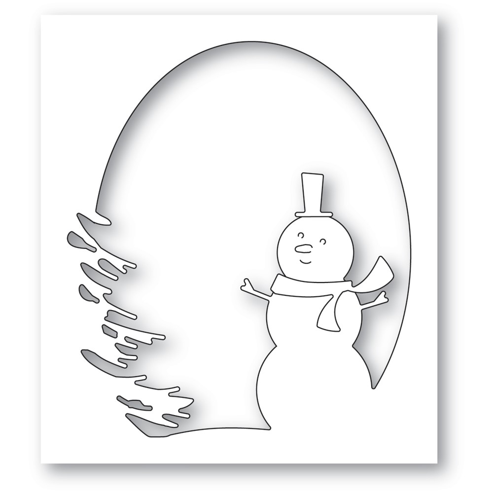 Memory Box OVAL SNOWMAN COLLAGE Dies 94608 zoom image
