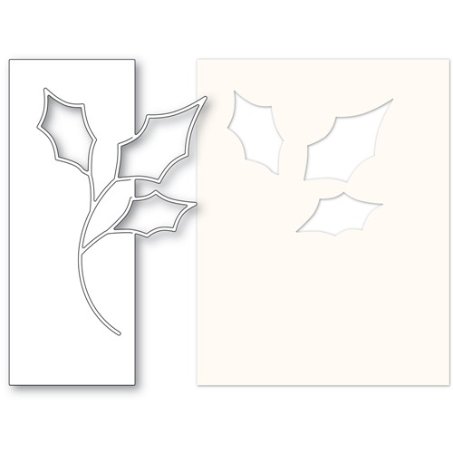 Memory Box CONTEMPO HOLLY Die and Stencil 94619 Preview Image