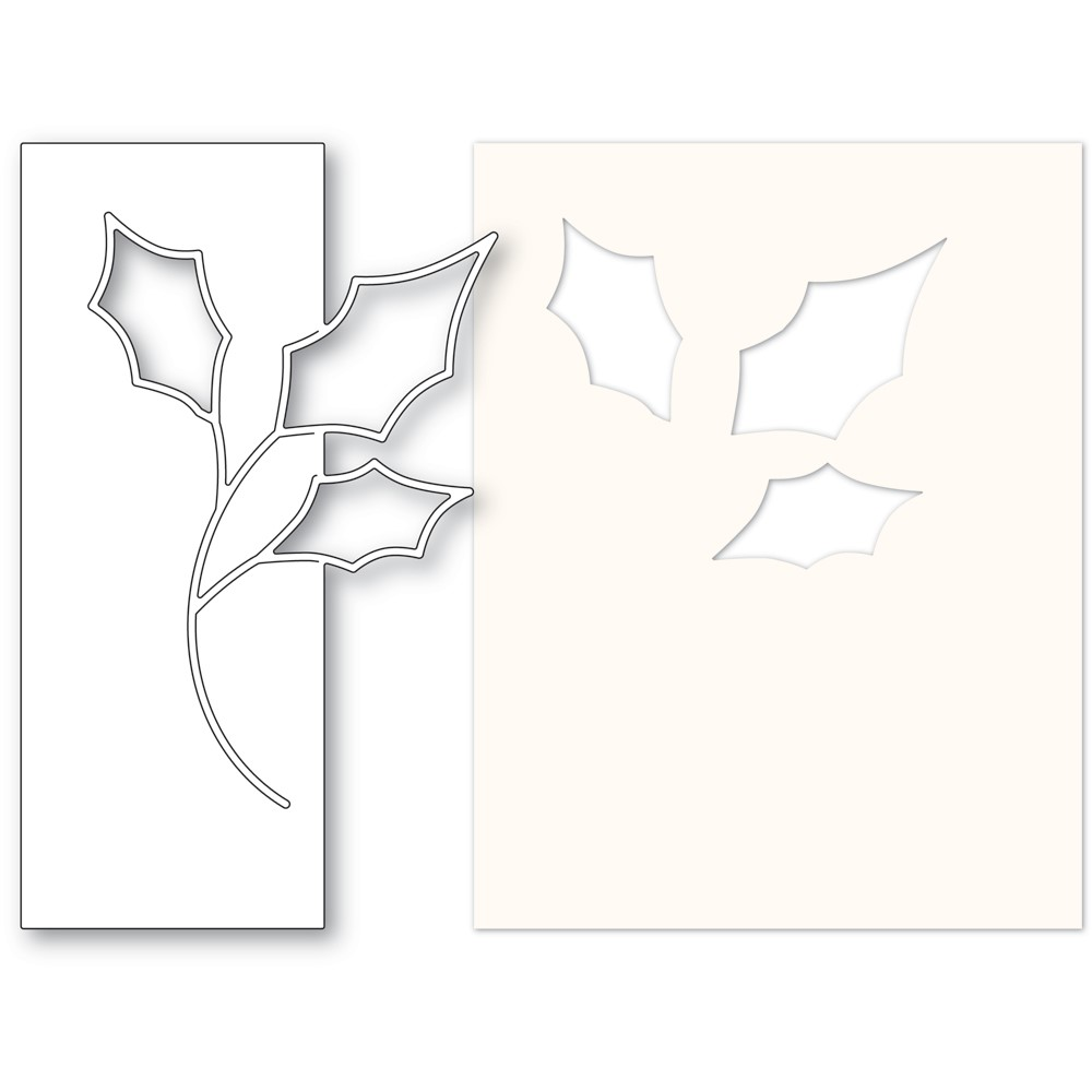 Memory Box CONTEMPO HOLLY Die and Stencil 94619 zoom image