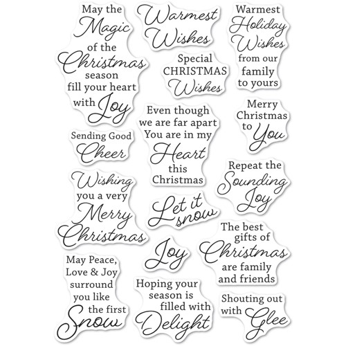 Memory Box Clear Stamps YULETIDE MOMENTS cl5274 Preview Image