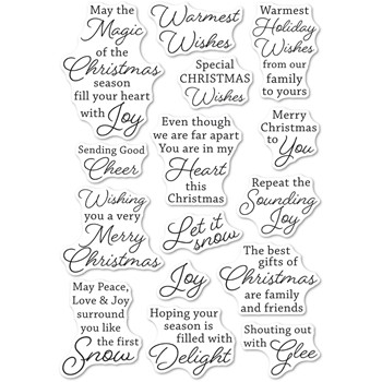 Memory Box Clear Stamps YULETIDE MOMENTS cl5274