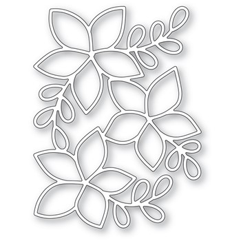 Poppy Stamps POINSETTIA BACKGROUND Die 2480