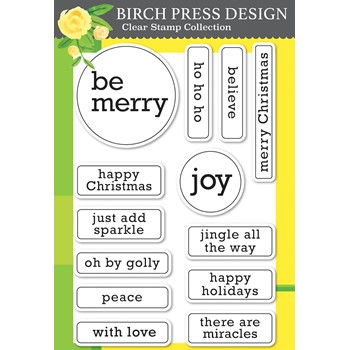 Birch Press Design CONTEMPO CHRISTMAS GREETINGS Clear Stamp Set cl8162