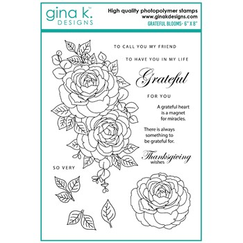 Gina K Designs GRATEFUL BLOOMS Clear Stamps as10