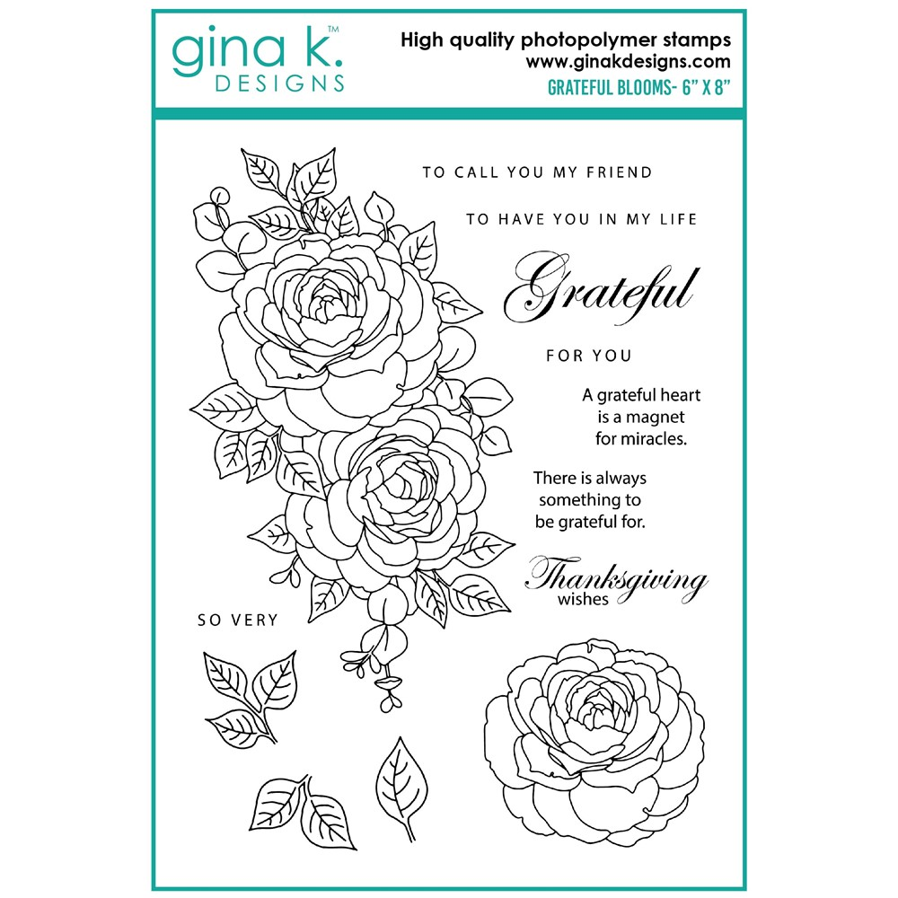 Gina K Designs GRATEFUL BLOOMS Clear Stamps as10 zoom image