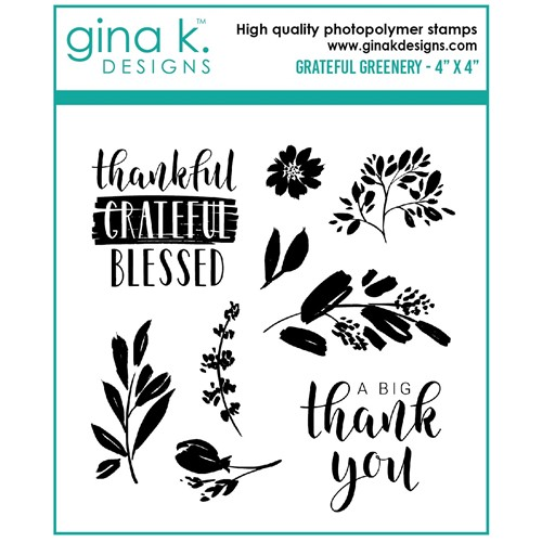 Gina K Designs GRATEFUL GREENERY Clear Stamps gkd113 Preview Image