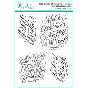 Gina K Designs PEACE ON EARTH Clear Stamps el21