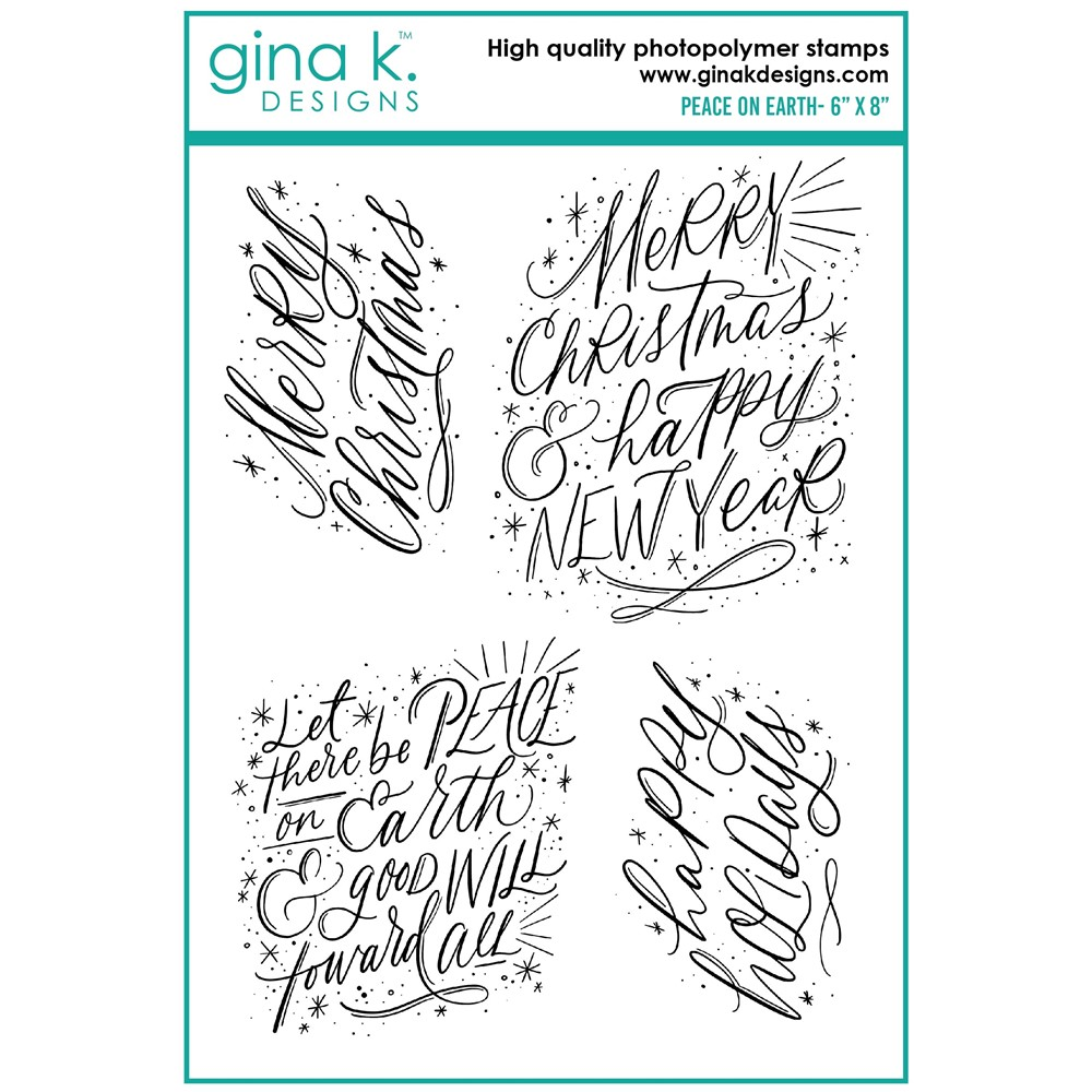 Gina K Designs PEACE ON EARTH Clear Stamps el21 zoom image