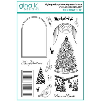 Gina K Designs WINTER WINDOW Clear Stamps mm105