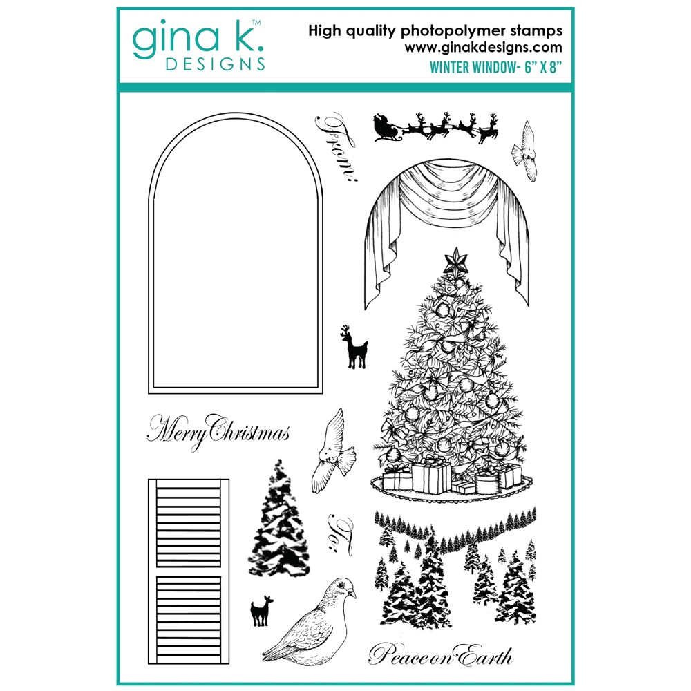 Gina K Designs WINTER WINDOW Clear Stamps mm105 zoom image