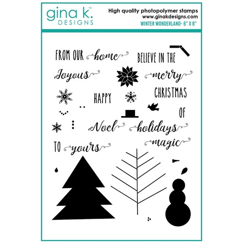 Gina K Designs WINTER WONDERLAND Clear Stamps bs44 Preview Image