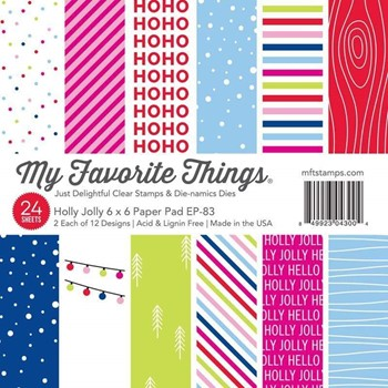 My Favorite Things HOLLY JOLLY 6x6 Inch Paper Pad ep83
