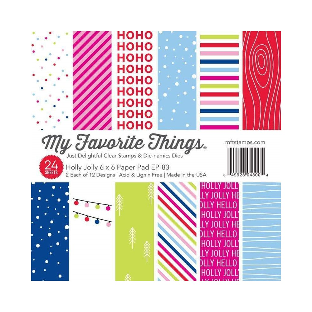 My Favorite Things HOLLY JOLLY 6x6 Inch Paper Pad ep83 zoom image