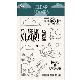 P13 GOOD NIGHT Clear Stamps P13-GNT-30