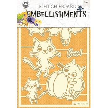 P13 Happy Halloween Light Chipboard Collection P13-HAL-46