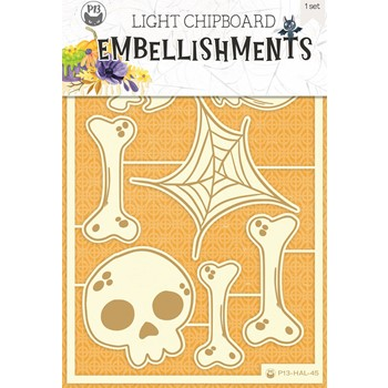 P13 Happy Halloween Light Chipboard Collection P13-HAL-45