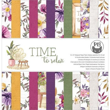 P13 TIME TO RELAX 12 x 12 Paper Pad P13-TTR-08