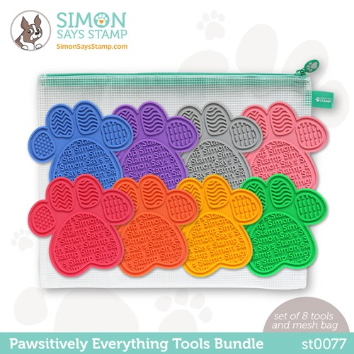 Simon Says Stamp PET PAWSITIVELY EVERYTHING RAINBOW TOOLS BUNDLE with Storage st0077 Preview Image