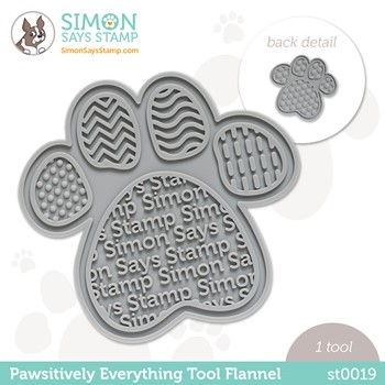 Simon Says Stamp PET PAWSITIVELY EVERYTHING TOOL FLANNEL st0019 Peace on Earth