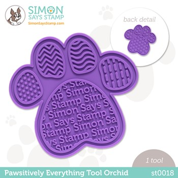 Simon Says Stamp PET PAWSITIVELY EVERYTHING TOOL ORCHID st0018 Peace on Earth