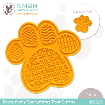 Simon Says Stamp PET PAWSITIVELY EVERYTHING TOOL CITRINE st0015 Peace on Earth