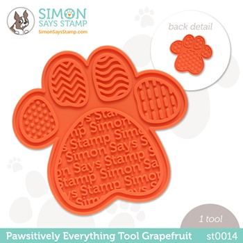 Simon Says Stamp PET PAWSITIVELY EVERYTHING TOOL GRAPEFRUIT st0014 Stamptember Peace on Earth