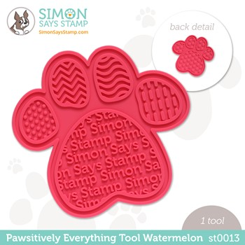 Simon Says Stamp PET PAWSITIVELY EVERYTHING TOOL WATERMELON st0013 Peace on Earth