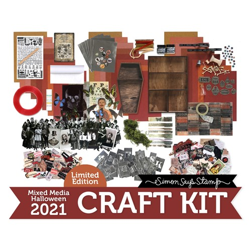 Limited Edition Simon Says Stamp HALLOWEEN MIXED MEDIA Kit Bundle hmm21 Preview Image