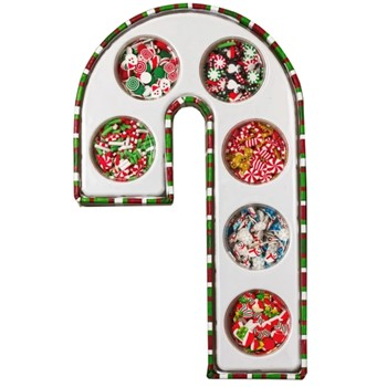 Buttons Galore and More CANDY CANE GIFT BOX ASSORTED SPRINKLETZ
