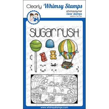 Whimsy Stamps TIN GAMES SUGAR RUSH Clear Stamps BS1034