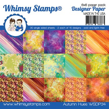 Whimsy Stamps AUTUMN HUE 6 x 6 Paper Pack WSDP34