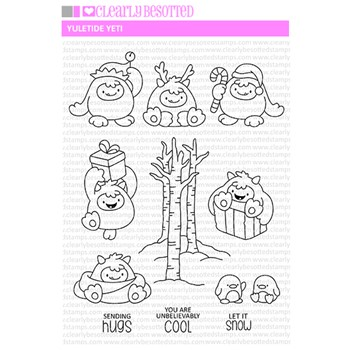 Clearly Besotted YULETIDE YETI Clear Stamps