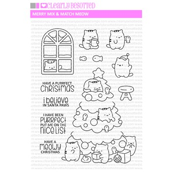 Clearly Besotted MIX AND MATCH MEOW Clear Stamps