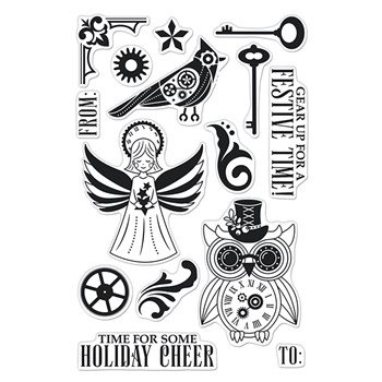 Hero Arts Clear Stamps STEAMPUNK HOLIDAY CM581