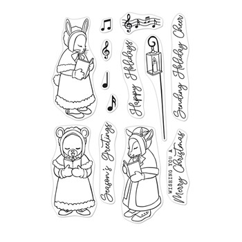 Hero Arts Clear Stamps CHRISTMAS CAROLERS CM579
