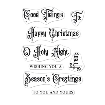 Hero Arts Clear Stamps VICTORIAN CHRISTMAS MESSAGES CM577