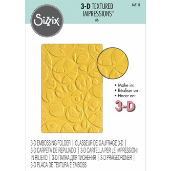 Sizzix Textured Impressions SWISS CHEESE 3D Embossing Folder 665111
