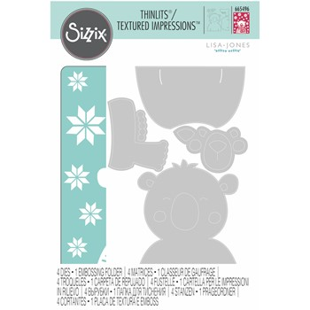 Sizzix COZY BEAR Embossing Folder and Thinlits Die 665496