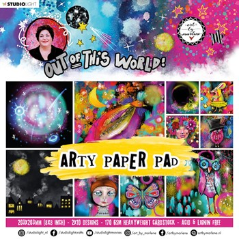 Studio Light OUT OF THIS WORLD ABM Arty Paper Pad 16 abmootwpp16