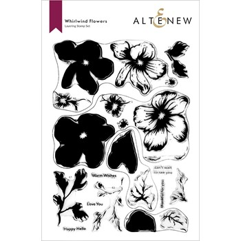 Altenew WHIRLWIND FLOWERS Clear Stamps ALT6519