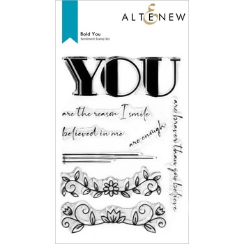 Altenew BOLD YOU Clear Stamps ALT6496