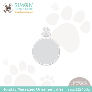 Simon Says Stamp HOLIDAY MESSAGES ORNAMENT Wafer Dies sssd112465c Peace On Earth