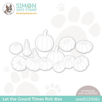 Simon Says Stamp LET THE GOURD TIMES ROLL Wafer Dies sssd112416c Peace On Earth